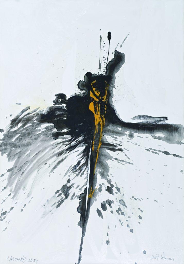 Dorit Winzens - Atonal, 2014, Acryl auf Leinwand, 100 cm  / 75 cm