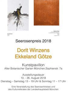 Seerosenpreis 2018, Dorit Winzens Ekkeland Götze 10.8. – 26.8.2018 im Kunstpavillon