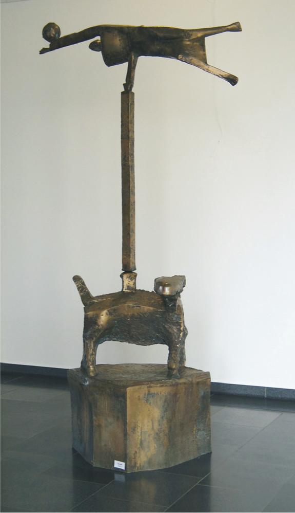 """Balance"", 1989-1989, 136 x 132 x 80 cm, Bronce, 150 kg"