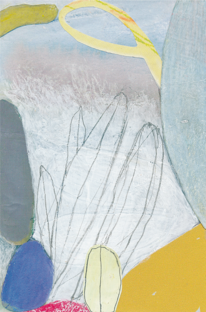 """""""hortus varius 2/3/8"""", 2016, 16 x 10,5 cm, Acryl / Papiercollage"""