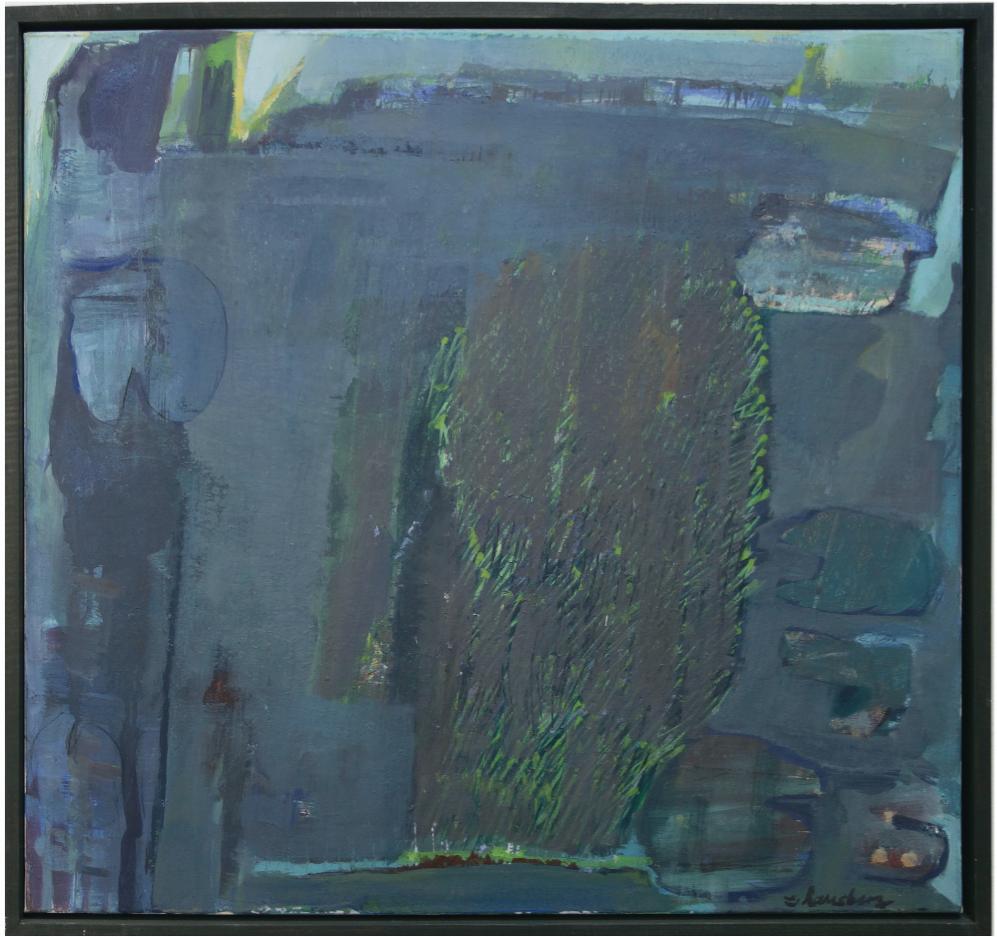"""""""verwunschen"""" 2002, 79 x 84 cm, Pigment / Acryl auf Leinwand"""
