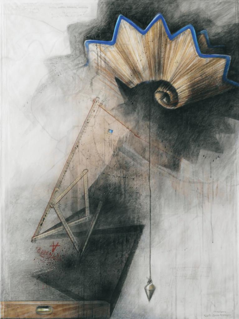 """""""Balance"""", 2014, 120 x 90 cm, Zeichnung / Montage"""