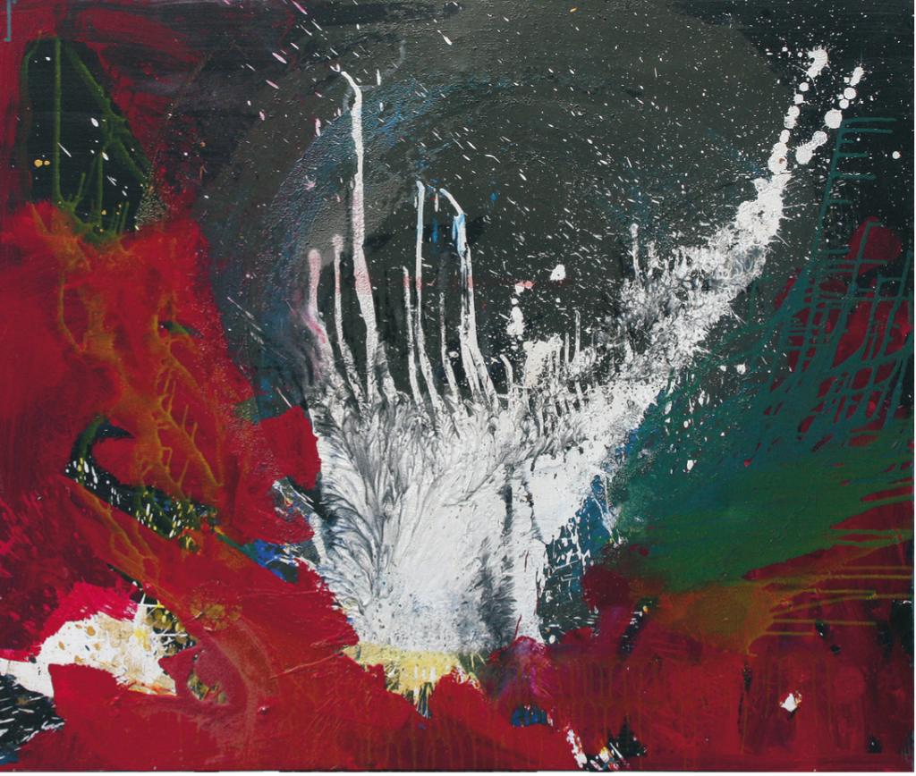 """Engelflügel"", 2012, 100 x 120 cm, Acryl auf Leinwand"