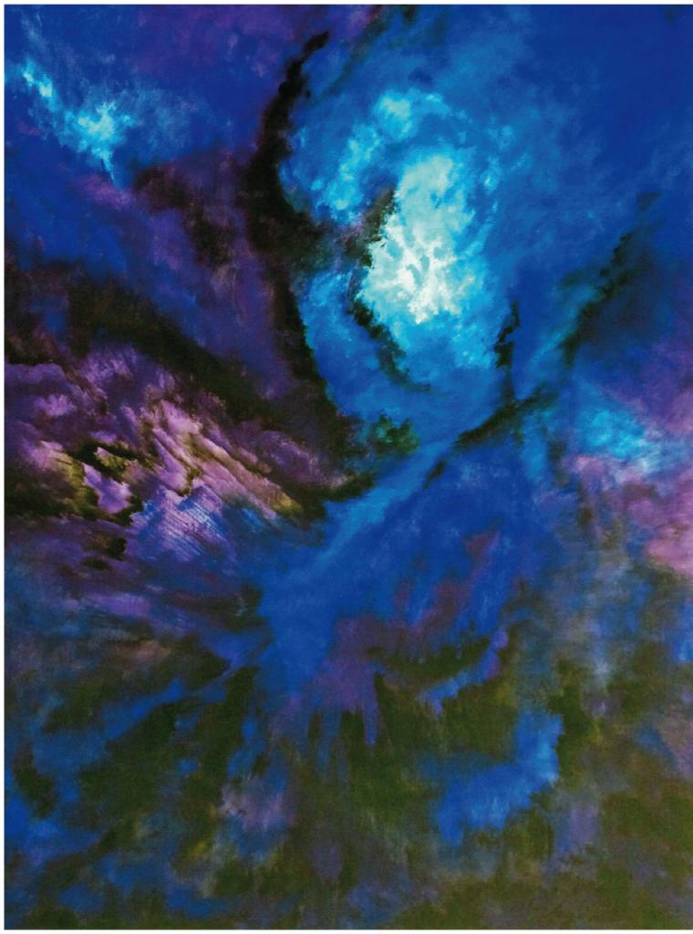 """""""O.T. (dunkel violett)"""", 2012, 120 x 90 cm, Acryl auf Leinwand"""