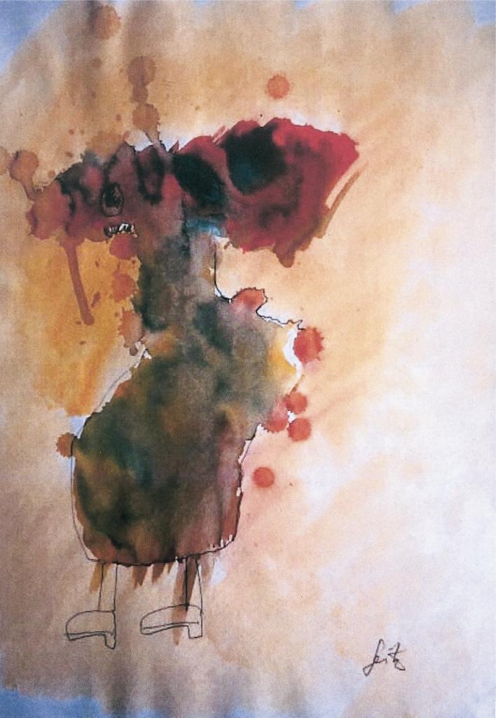 """""""Gestalt"""", 2014, 40 x 30 cm, Mischtechnik auf Papier"""