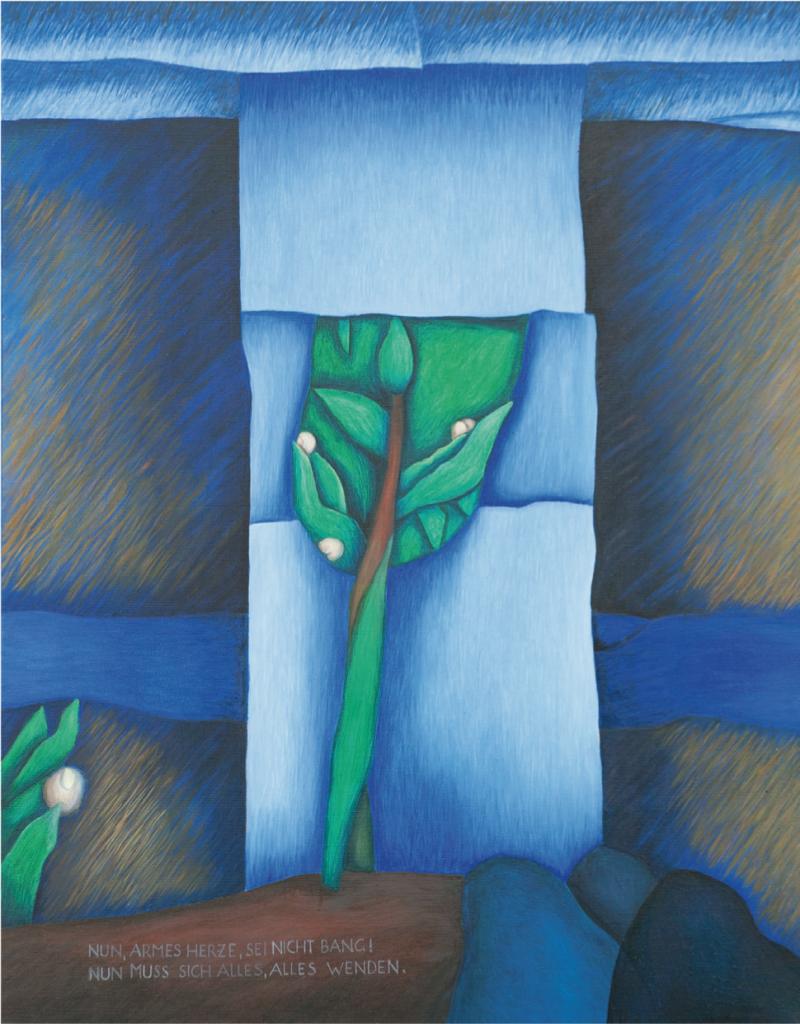 """Frühlingsglaube"" (nach einem Gedicht von Ludwig Uhland), 2014, 100 x 80 cm, Öl auf Leinwand"