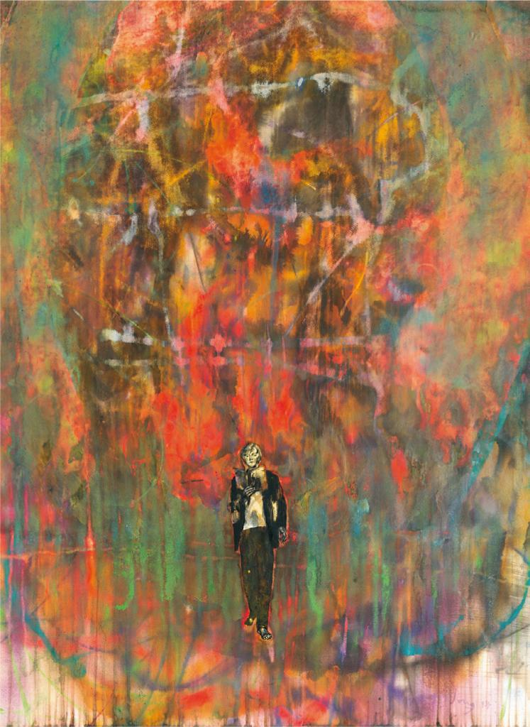 """unterwegs"", 2014, 104 x 76,5 cm, Aquarell"