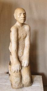 """""""Kniender"""", 2003, 80 x 30 x 40 cm, Jura / Stein"""