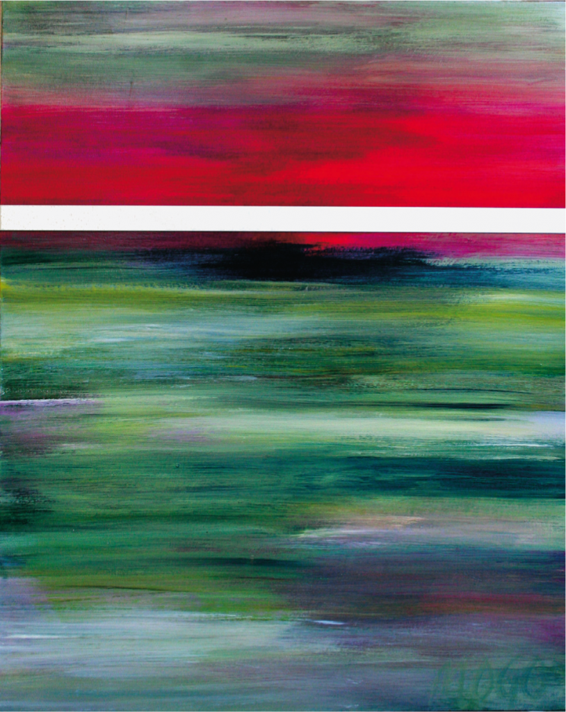 """""""MIMA 012"""", 2012, 100 x 80 cm, Ölmalerei auf Canvas mit Alu"""