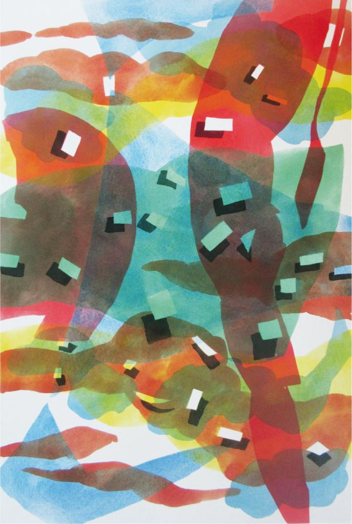 """""""Über den Wolken"""", 2017, 120 x 80 cm, Acryl auf Leinwand"""