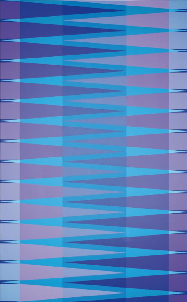 """""""gegenläufige Zick-Zack-Modulation I"""", 2016, 130 x 80 cm, Acryl auf Leinwand"""