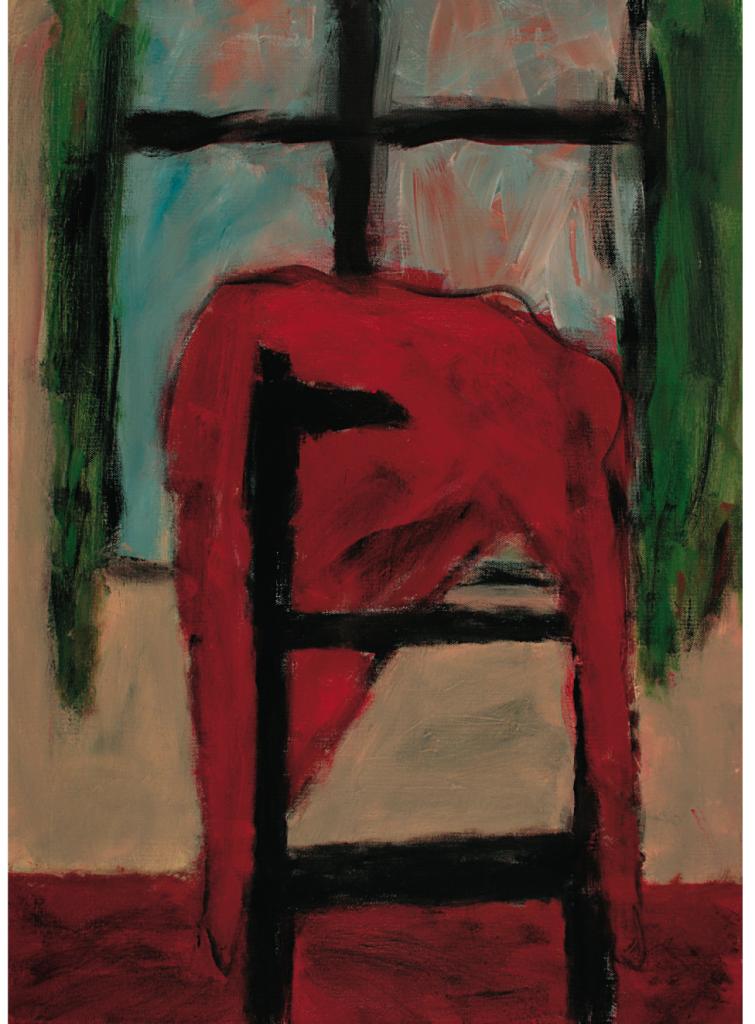 """""""Stuhl und Fenster 2"""", 2007, 70 x 50 cm Acryl / Leinwand"""