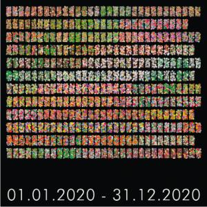 """q.o.t 2020 (s)"", 2017, 20 x 20 x 2 cm, Digitaldruck auf Keilrahmen"