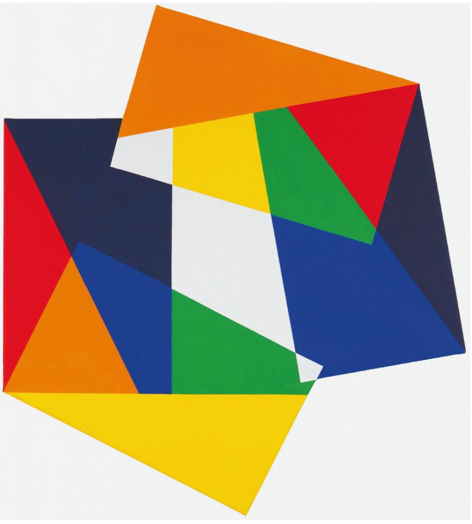 """O.T. 907"", 2017, 110 x 99 cm, Acryl auf Leinwand"
