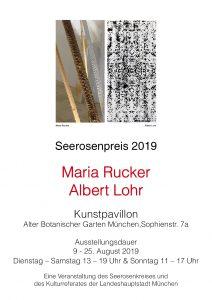 Seerosenpreis 2019, Maria Rucker  Albert Lohr 9.- 25.8.2019