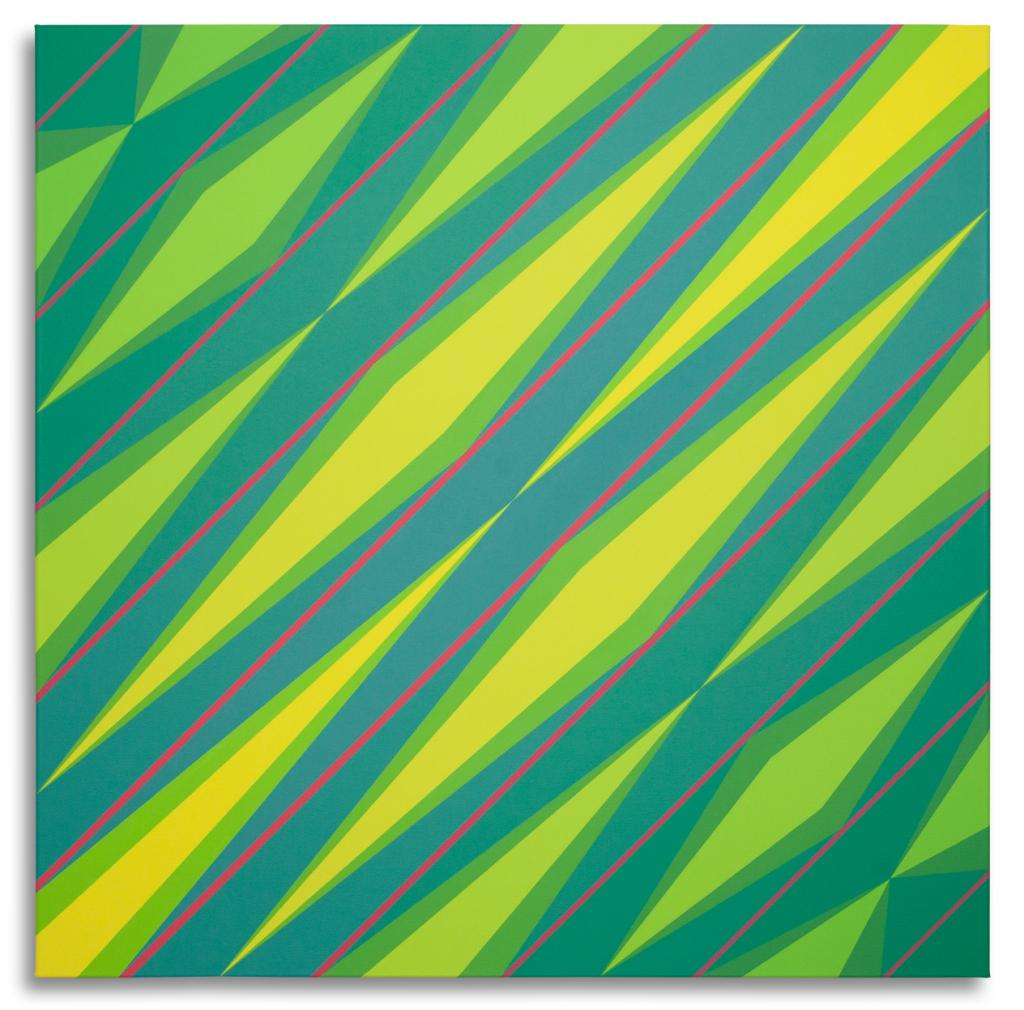 Netzwerkvariation, Sybille Hochreiter, Acryl auf Leinwand, 100 x 100 cm